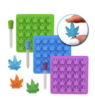 3 PACK - Marijuana Cannabis Weed Leaf Silicone Mould Trays For Delicious Gummies