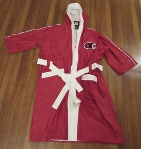 Champion Boxing Robe Men's Size Large Red Script Piping Reflective Logo New NWT