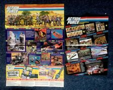 Vintage ACTION MAN ACTION FORCE TOY Promo Posters / Leaflets 1980's RARE