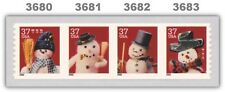 Holiday 2002 Snowmen 3680-83 3683 3683a Coil Strip of 4 Attached MNH - Buy Now