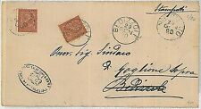 ITALIA REGNO: Sass T15 su CIRCOLARE - da  Nuvolento rispedita da Bedizzole 1890
