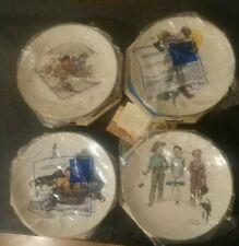 """New In Box Norman Rockwell Gorham 1975 Limited Ed. Four Seasons Plates 10 3/4"""""""