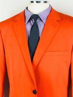NWOT 42L Saddlebred Mens 100% Cotton 2 Button Blazer Sport Coat Jacket Orange
