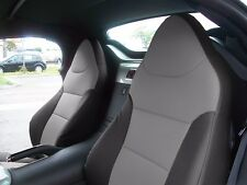 PONTIAC SOLSTICE BLACK/GREY LEATHER-LIKE CUSTOM MADE FIT FRONT SEAT COVER