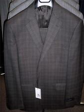 Mens Ermenegildo Zegna Brown Plaid Suit 40 Regular BEAUTIFUL! NWT