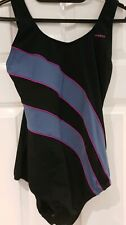 """Maru Womens black grey pink Swimsuit Pacer Fs4167 size 36"""" Brand New with tsgs"""