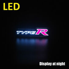 High End Water Resistant LED Car Grill Emblem Logo Badge for CIVIC Type R