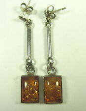 Bernstein Ohrringe 925 Sterling Silber silver amber earrings BoHo ==0 # N4