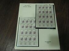 More details for 2 complete sheets israel 1963 hebrew press sg260 cat £280 different shades  mnh