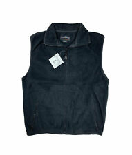 LIGHTWEIGHT Mens Polar Fleece Vest - New With Tags - Large - Black LIGHTWEIGHT