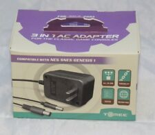 Tomee 3 in 1 AC Adapter for Classic Consoles (SNES, NES, Genesis 1) Brand New