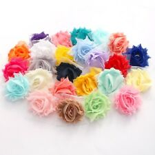 14 Mini Shabby Chiffon flower mixed pack for millinery ,  hair and craft