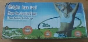 """Foam Padded Fitness Weighted Hula Hoop Body Massage Adult Sliming Workout 40"""""""
