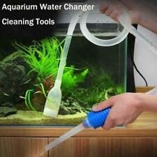 Siphon Gravel Cleaner Aquarium Fish Tank Manual Vacuum Changer Water A0N9