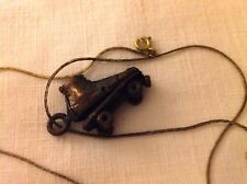 Vintage Unused 70's Tobacco Roach Clip Roller Skate Necklace Bronze