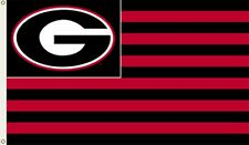 Georgia Bulldogs Stripes Nation 3x5 Flag Outdoor House Banner University of