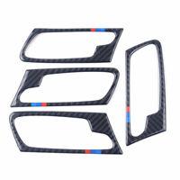 Fit For BMW X5 E70 2008-2013 Carbon Fiber Interior Door Handle Frame Trim Cover