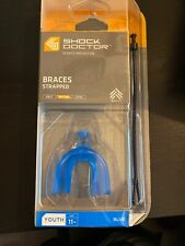 Shock Doctor Braces Strapped Mouth Guard 4101Y Youth 11 & under Blue