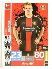 Match Attax 2018/19 Bundesliga - #201 Julian Brandt - Bayer 04 Leverkusen