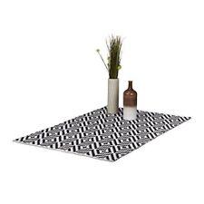 Relaxdays Tappeto Vintage con Geometrico cotone e poliestere Bianco/nero 1...