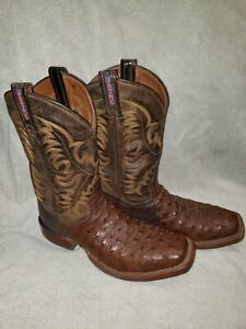 Tony Lama 8998 Men's USTRC Collection Full Quill Ostrich 8 1/2 D