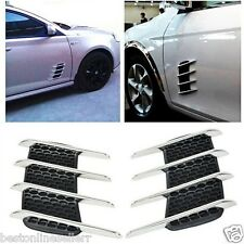 2 x Universal Car Side Flow Vent Fender Air Door Decals decorate Shark Gills DIY