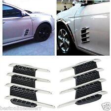 2 x Universal Car Side Flow Vent Fender Air Door Decals decorate Shark Gills DIY