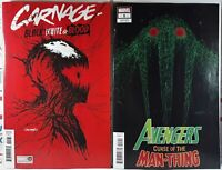 🩸 PATRICK GLEASON VARIANT CARNAGE BLACK WHITE & BLOOD #1 + AVENGERS MAN-THING