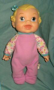 "Blonde Baby Alive 2009 Bouncin Babbles Interactive 12"" Baby Doll Hasbro  T1"