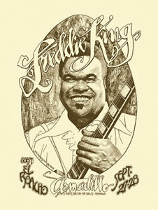 Blues - Freddie King - Armadillo concert poster reprint (1974)