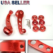 "FOR OLD JDM CARS! 4.7"" ALUMINUM ALLOY! USA ANODIZED RED WINDOW CRANKS WINDERS"