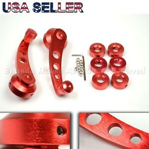 """FOR OLD JDM CARS! 4.7"""" ALUMINUM ALLOY! USA ANODIZED RED WINDOW CRANKS WINDERS"""
