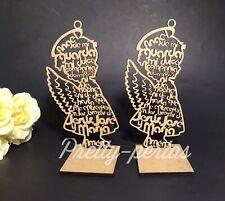"7""12Bautizo Party Table Decoration Wood Centerpiece Favors Supplies Girl Baptism"