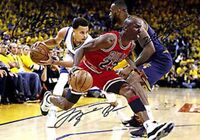 Michael Jordan LeBron James Stephen Curry Basketball Signed Autograph A4 Poster