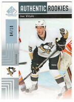 2011-12 UD SP Game Used Gold Spectrum Authentic Rookies Joe Vitale /10 RC Rare