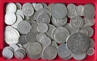 COLLECTION LOT WORLD ONLY SILVER COINS 108PC 422GR #xx22 102