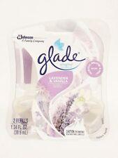 2 Refills Glade  LAVENDER & VANILLA  Plugins Oil Refill Limited Edition