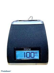 iHome Ip21 Clock Radio, Ipod Dock W AC & Battery Backup option-RARE-