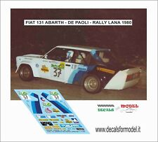 DECALS FIAT 131 ABARTH DE PAOLI RALLY LANA 1980