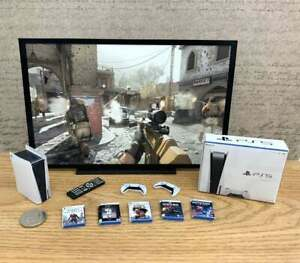 Dollshouse Miniature PS5 COD Bundle / PERSONALISED TV and Games / 1:6 Scale