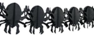 Halloween Decoration Paper Spider Garland 4M
