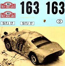 Porsche 904 GTS Rallye Monte Carlo 1965 Pauli Toivonen #163 1:18 Decal Decal