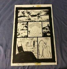 Detective Comics # 735 Original Comic Art Page #6 Sign by Penciler Dan Jurgens