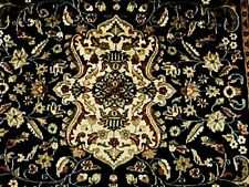 Mid Night Ivory Exclusive Hand Knotted Oriental Rug Wool Silk Carpet (8 x 5)'