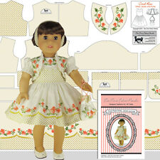 18 inch Doll Clothes Kit Cotton Coral Rose Dress Jacket Purse Headband