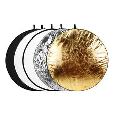 """32"""" 5 in 1 Multi Color Collapsible Disc Light Reflector f Studio Photgraphy 80cm"""