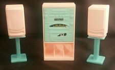 Vintage Barbie Pink TV Stereo Cabinet and Speakers Lot