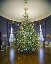 Christmas tree in the Blue Room of the White House 1961 - New 8x10 Photo