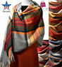 New Women Large Cashmere Shawl Wrap Scarf  Tartan Plaid