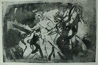 Rudolf Rothe Szene aus Hamlet Radierung signiert Auflage 4/20 Nachlass